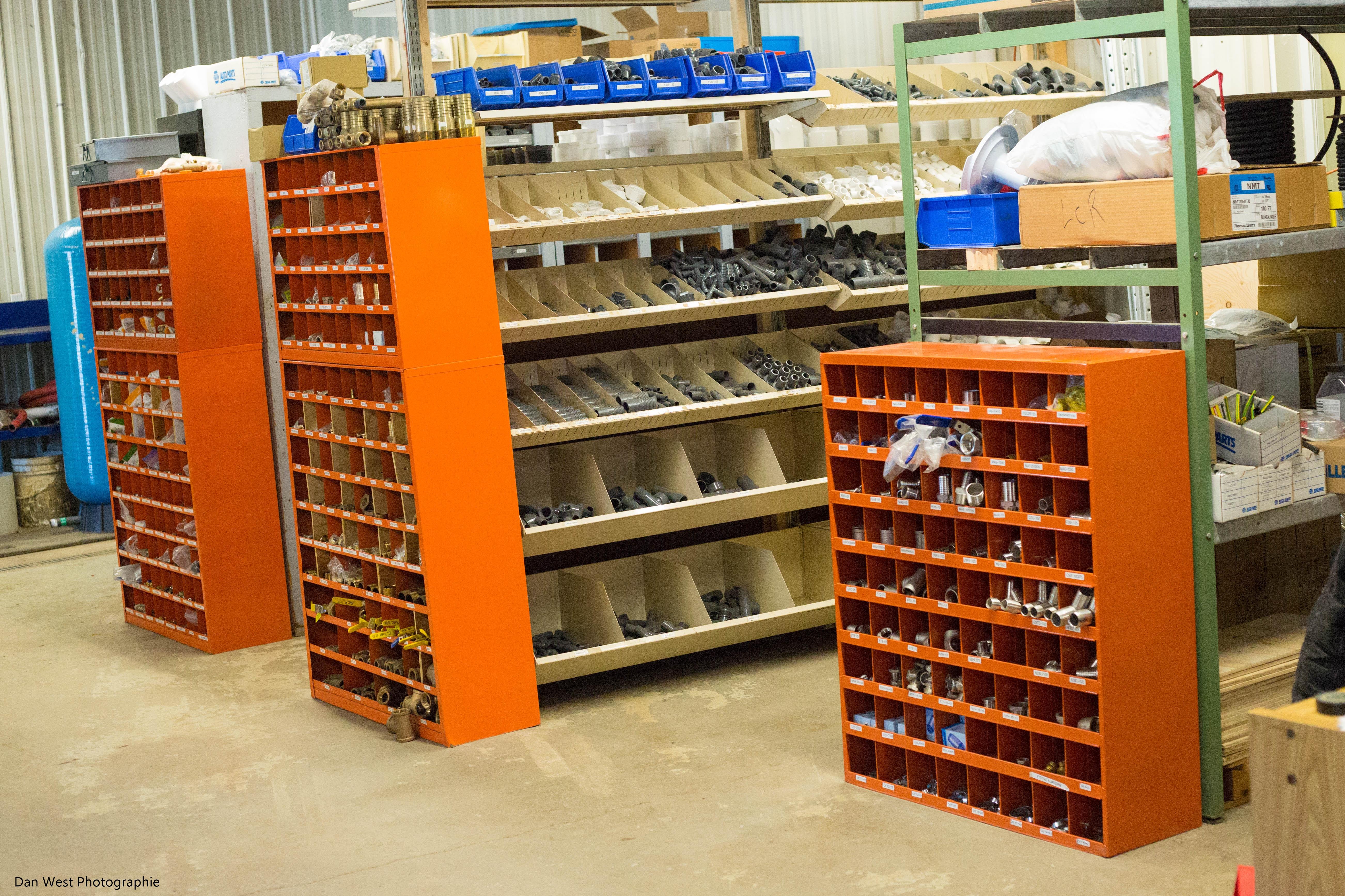 Inventaire de pièces pour les tuyaux - Pompe et traitement d'eau LCR